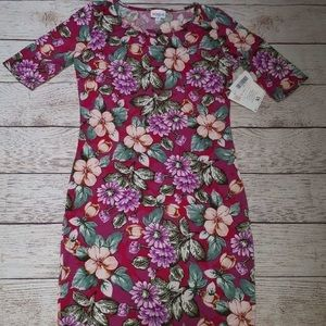 Pink Floral LuLaRoe Julia Dress